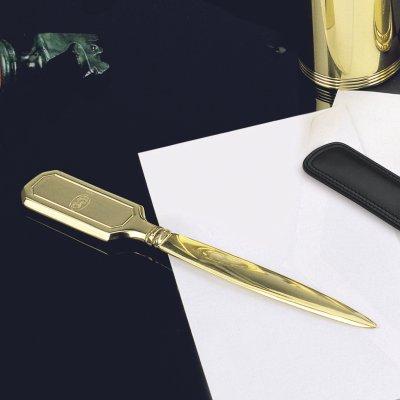 EL CASCO Brieföffner M650L, 23 Karat vergoldet