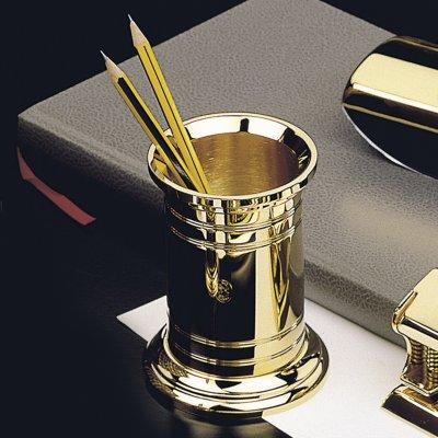 EL CASCO Bleistiftköcher M654L, 23 Karat vergoldet