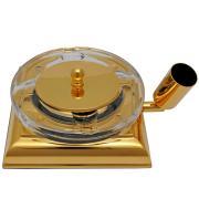 El Casco Zigarren-Ascher M760 L, 23 Karat vergoldet