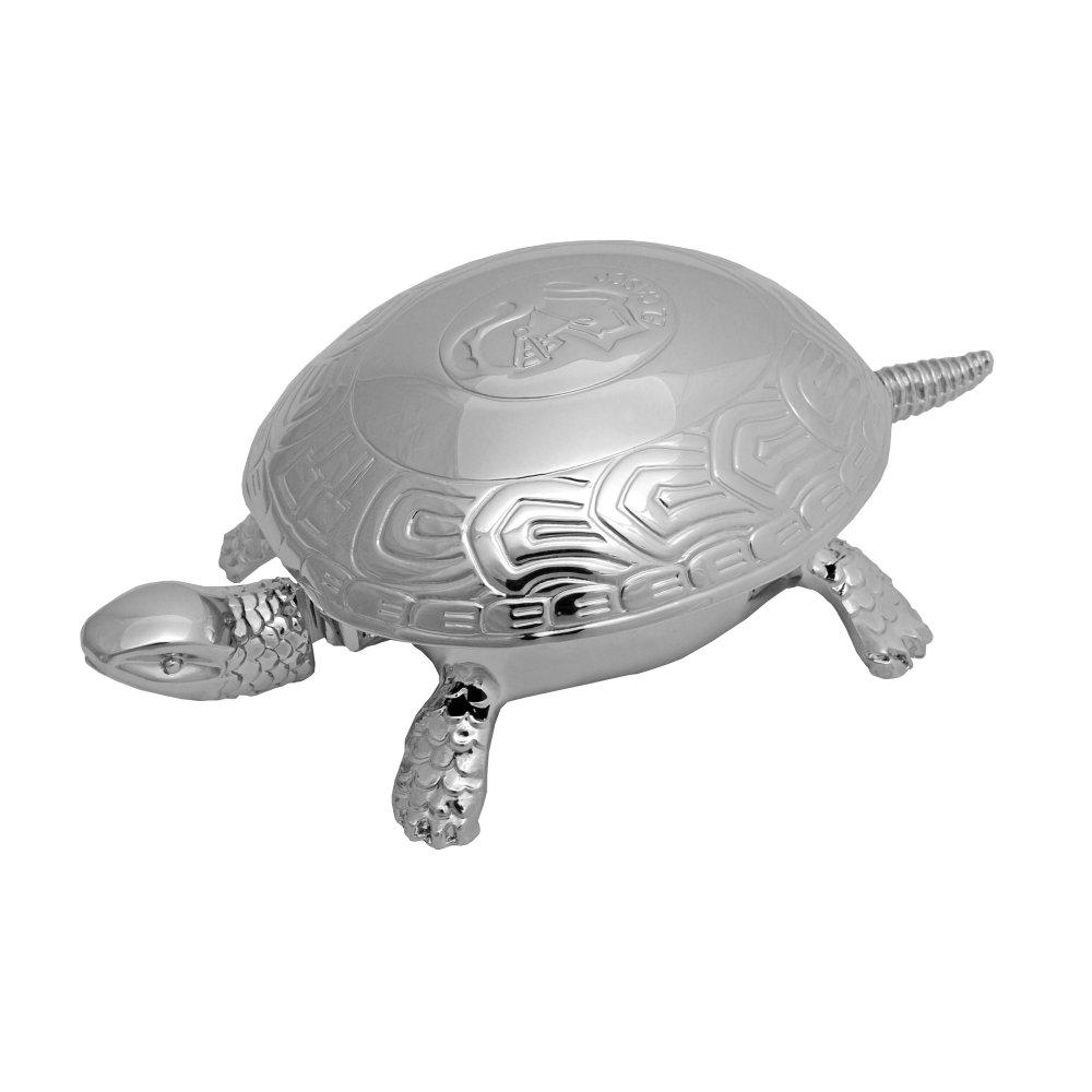 EL CASCO Schildkröte/Tischglocke M700CT, Edelchrom