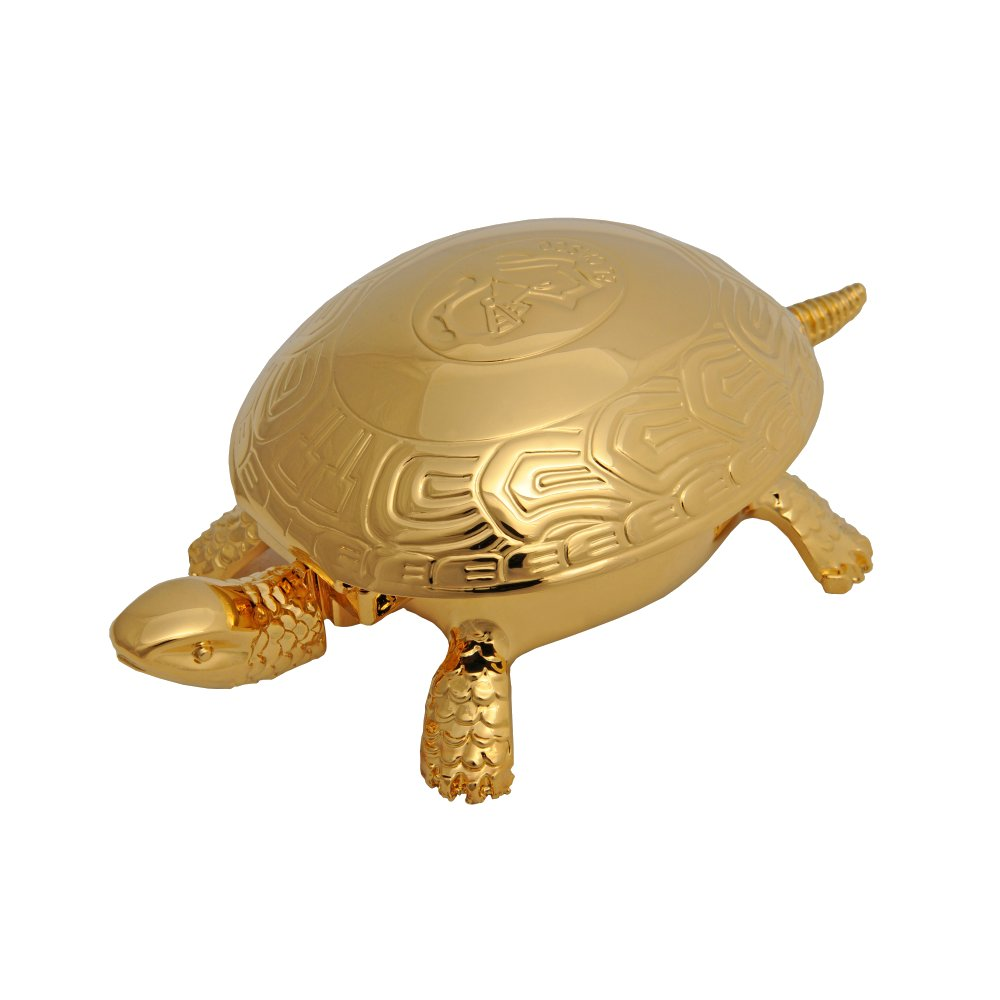 EL CASCO Schildkröte/Tischglocke M700L, 23 Karat vergoldet