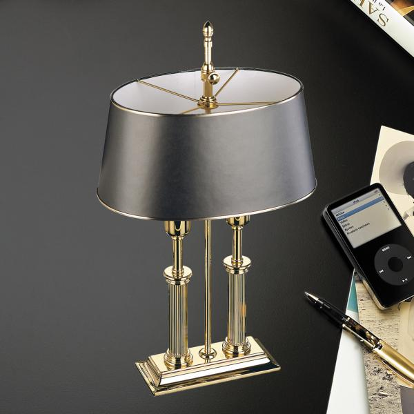El Casco Schreibtischlampe M665L, 23 Karat vergoldet