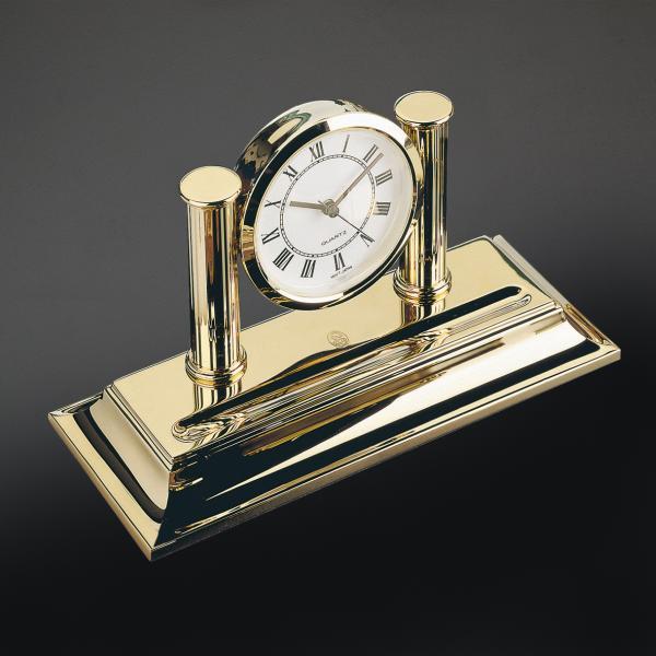 El Casco Uhr mit Stiftablage M662L, 23 Karat vergoldet