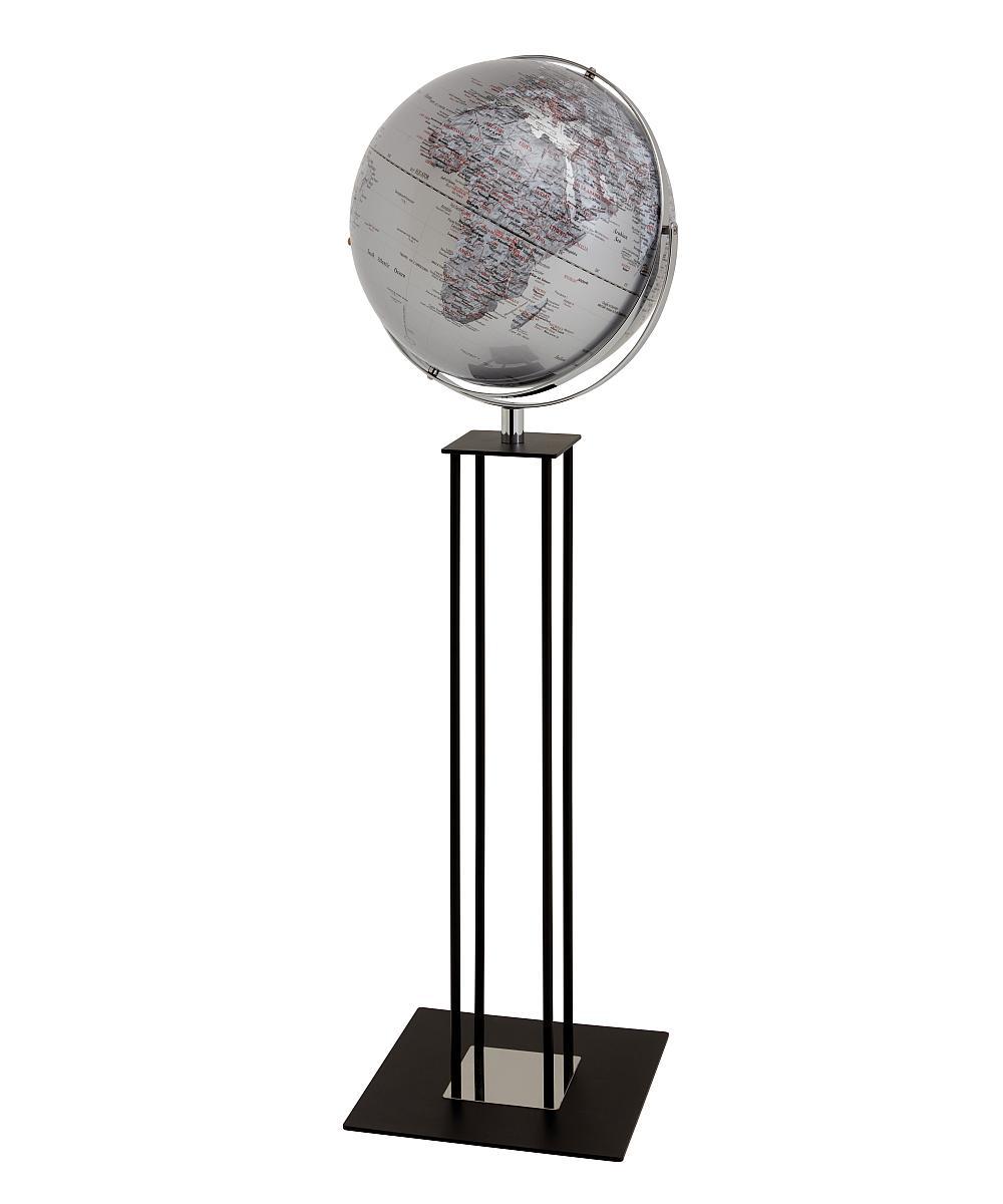 WORLDTROPHY Standglobus silber