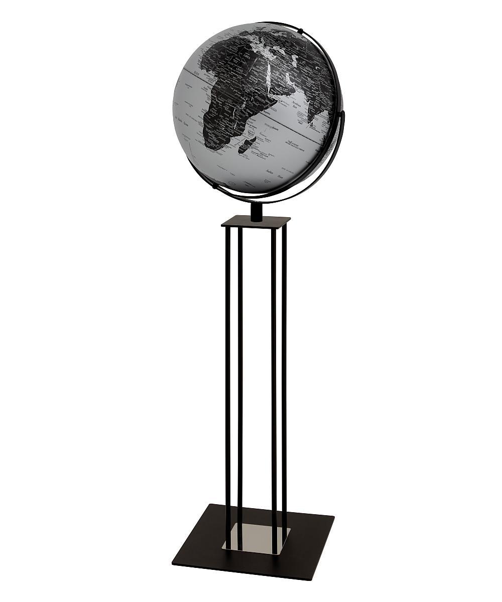 WORLDTROPHY Standglobus matt silber