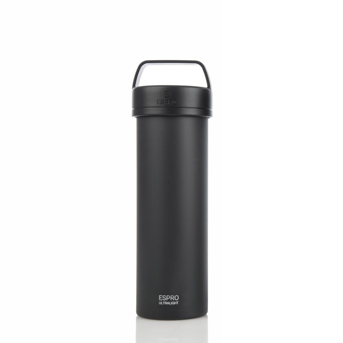 ESPRO Ultralight Kaffeezubereiter / Isolierflasche 475ml Edelstahl schwarz