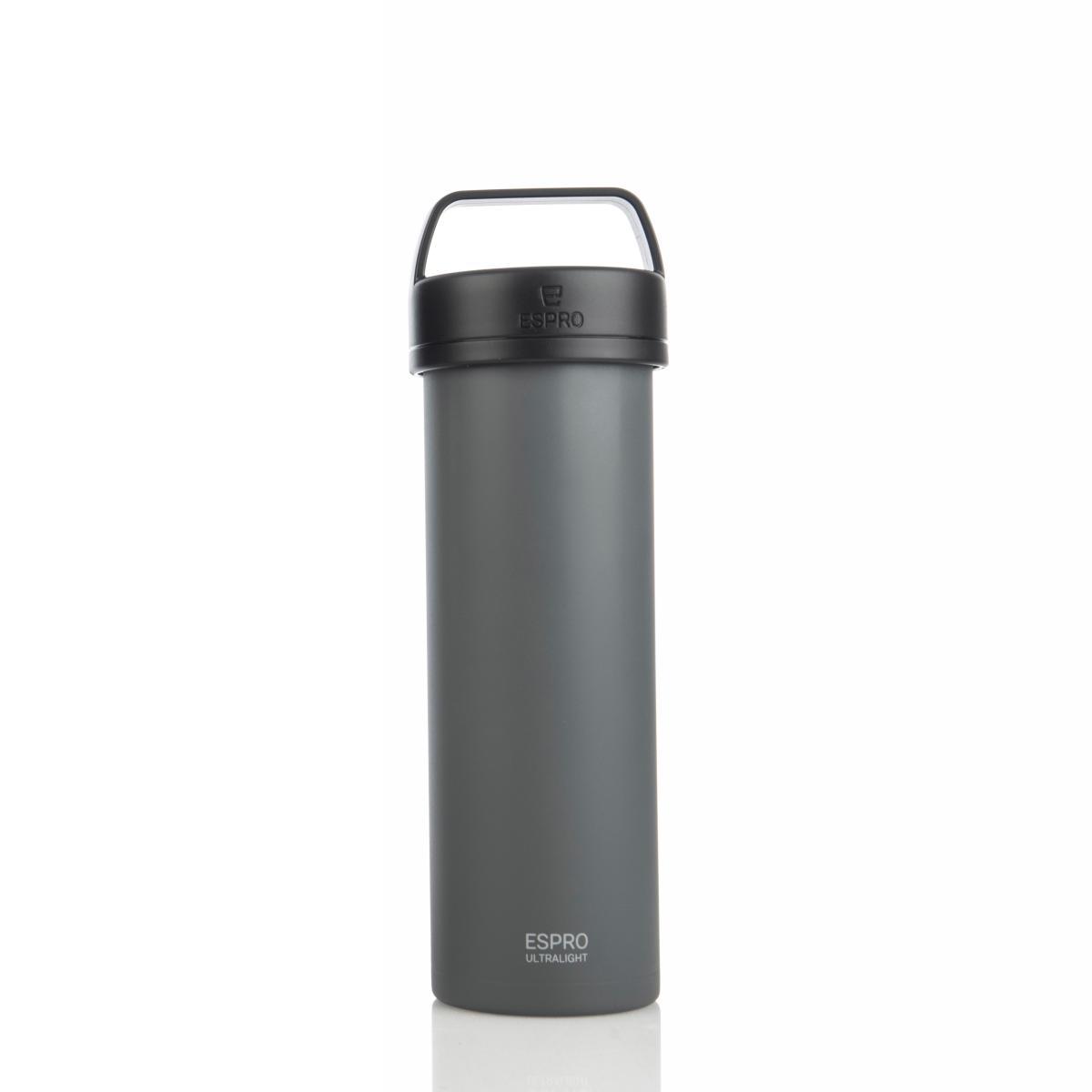 ESPRO Ultralight Kaffeezubereiter / Isolierflasche 475ml Edelstahl gun grey