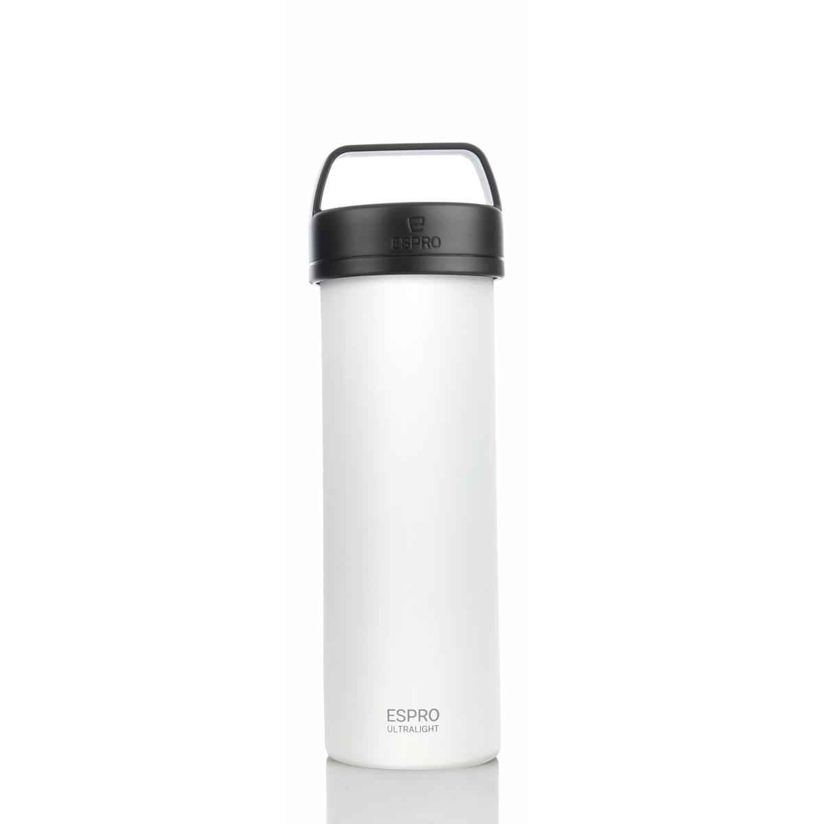 ESPRO Ultralight Kaffeezubereiter / Isolierflasche 475ml Edelstahl kalkweiß