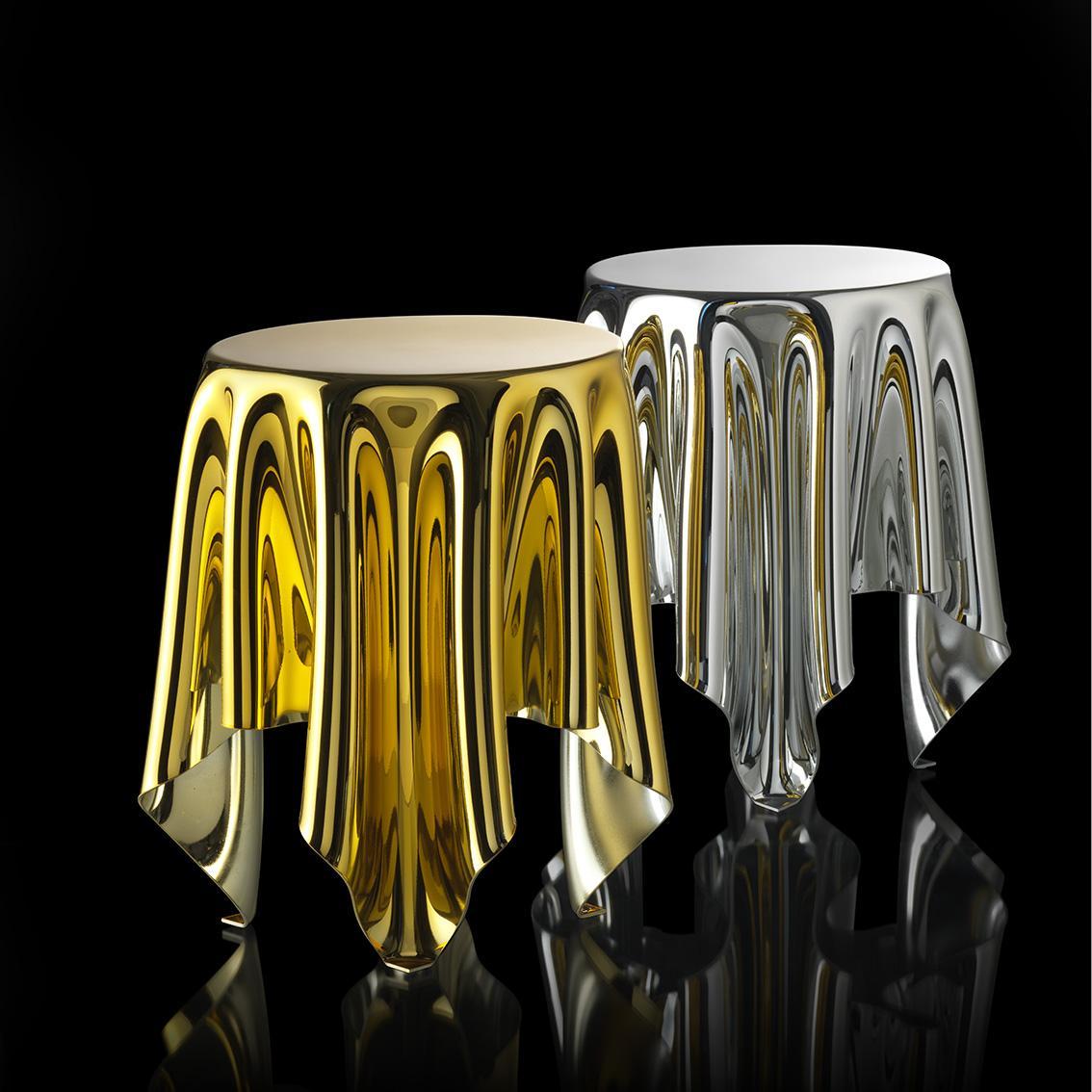 essey ILLUSION EdEdition Tisch, silber und gold