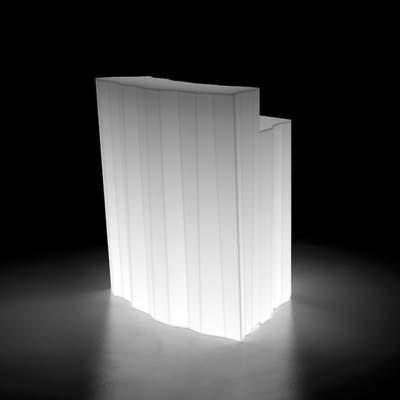 FROZEN LIGHT beleuchtete Bar Eckelement, weiß