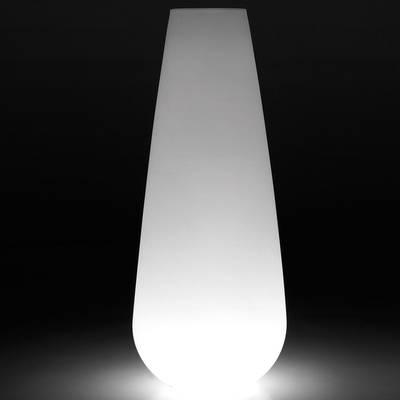 BUBA beleuchtete Plfanzvase Outdoor weiß