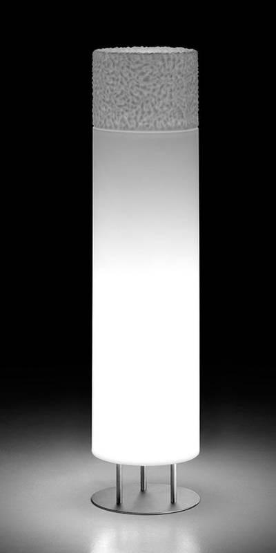 ICE-CAP Stehleuchte 117 cm, Indoor, Gehäuse weiß