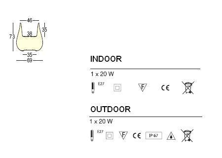 DROP Pflanzkübel beleuchtet: Technische Daten
