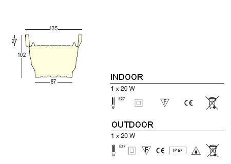 REBELOT Pflanzkübel beleuchtet: Technische Daten