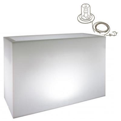 KUBE HIGH 100 Terassenbegrenzer / Pflanzkübel mit Energiesparlampe