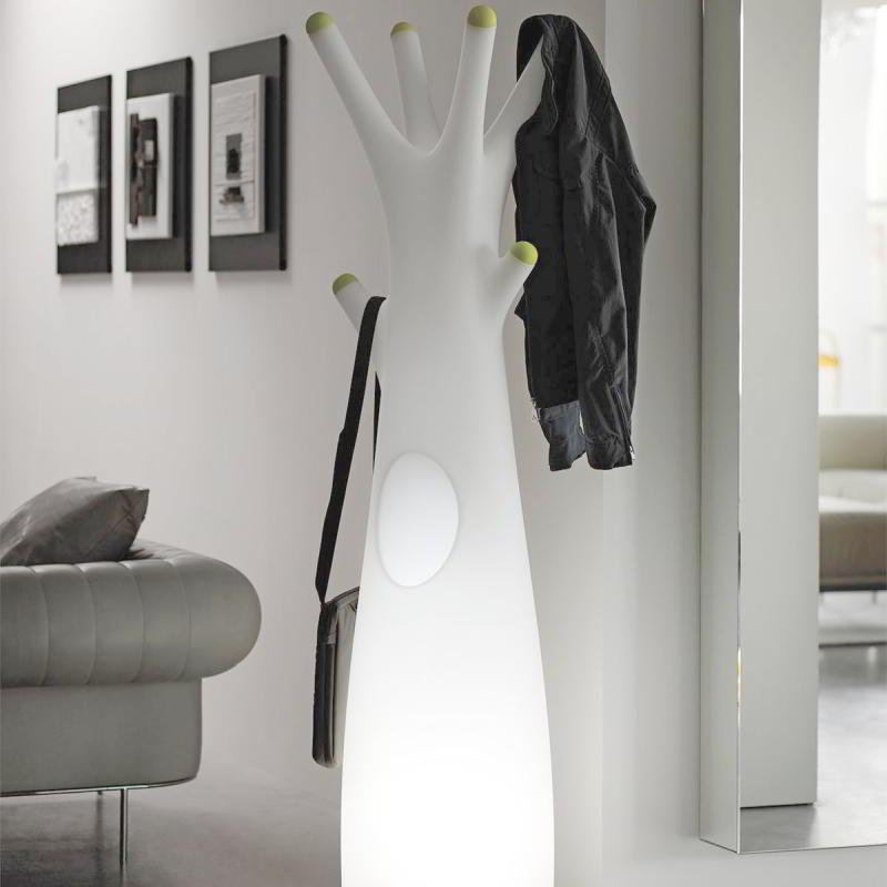 GODOT LIGHT Indoor beleuchteter Garderobenständer weiß, ohne Endstücke