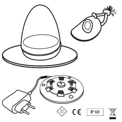Roaming Bodenleuchte, LED-Technik mit Akku und IR-Fernbedienung