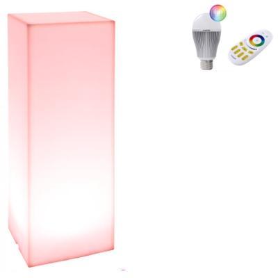KUBE HIGH SLIM Leuchtsäule mit LED Beleuchtung