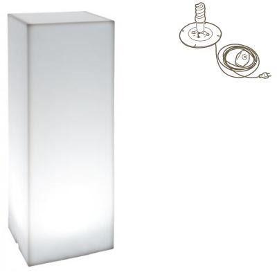 Kube High Slim Leuchtsäule Indoor mit Energiesparlampe