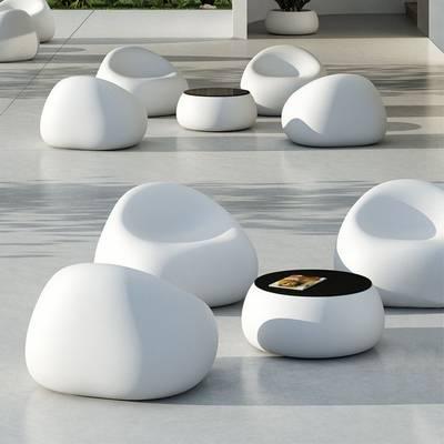 GUMBALL LIGHT Sessel beleuchtet mit T-BALL Tisch