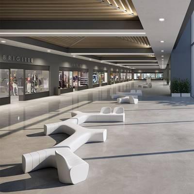 JETLAG Sessel beleuchtet im Einkaufszentrum