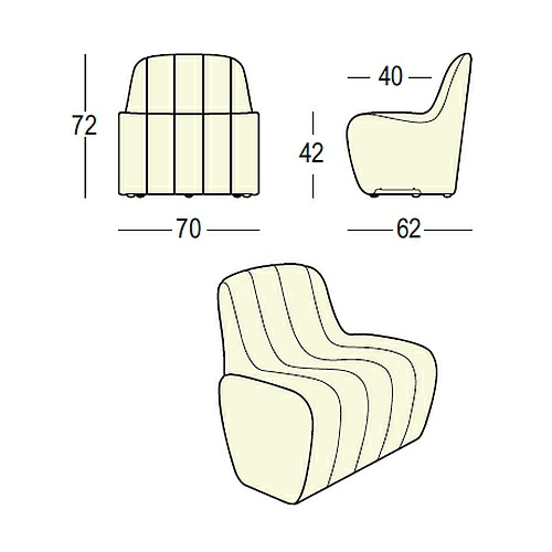 JETLAG Sessel Maße