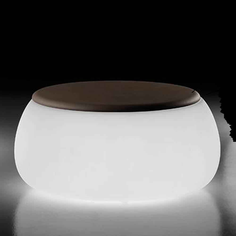 T-BALL Gartentisch beleuchtet mit Polyethylene Auflage braun