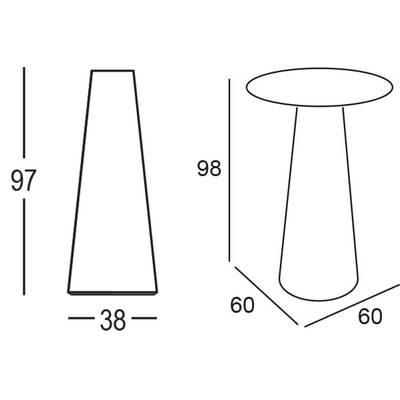 Fura stehtisch outdoor von euro3plast bei for Stehtisch barhocker kombination