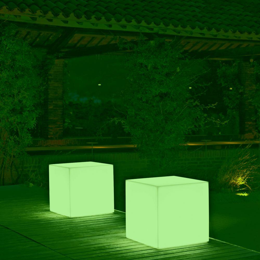 KUBE Leuchtwürfel / Leuchthocker mit LED-Beleuchtung