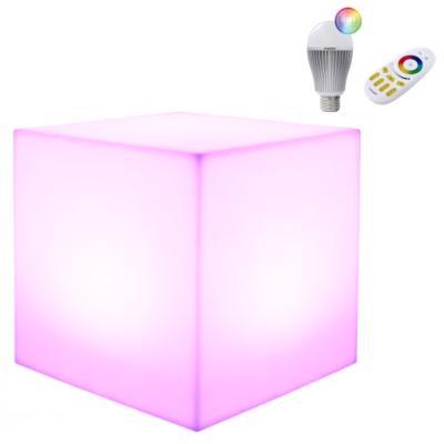 KUBE Leuchtwürfel 40x40x40 cm Indoor mit LED Birne und Funk-Fernbedienung