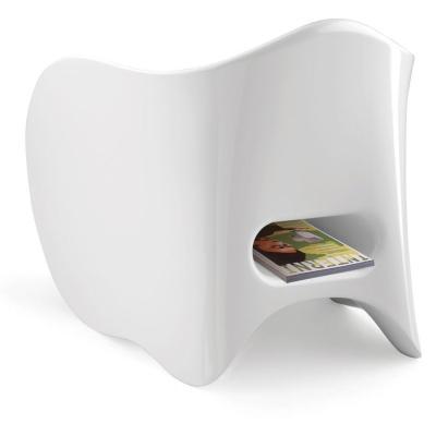 GOEN Sessel weiß hochglanz lackiert