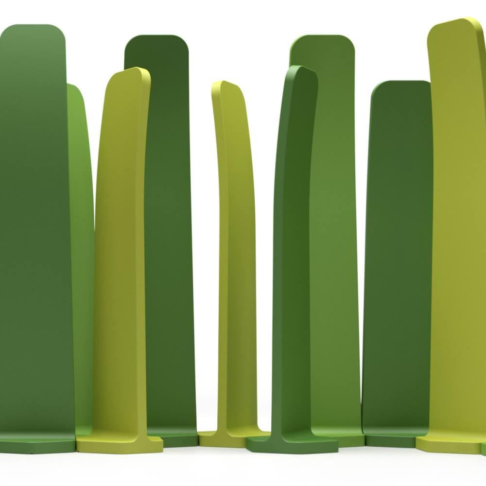 GRADIENTS Sichtschutz, 3 verschiedene Grün-Töne