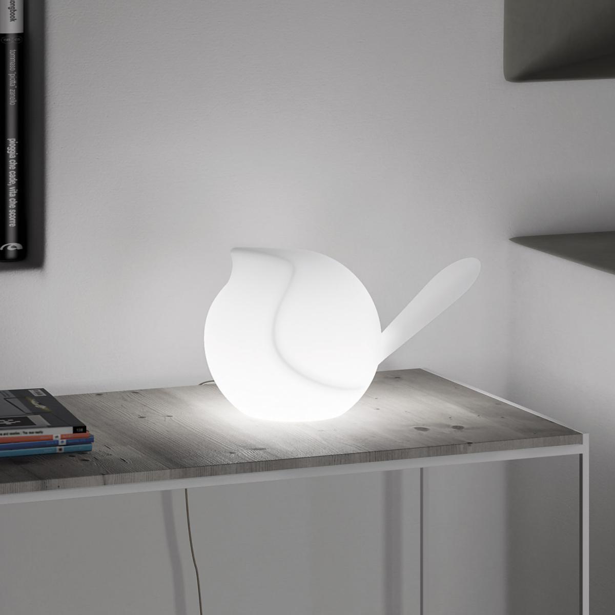 BIGGIE Deko Vogel mit LED Beleuchtung weiß