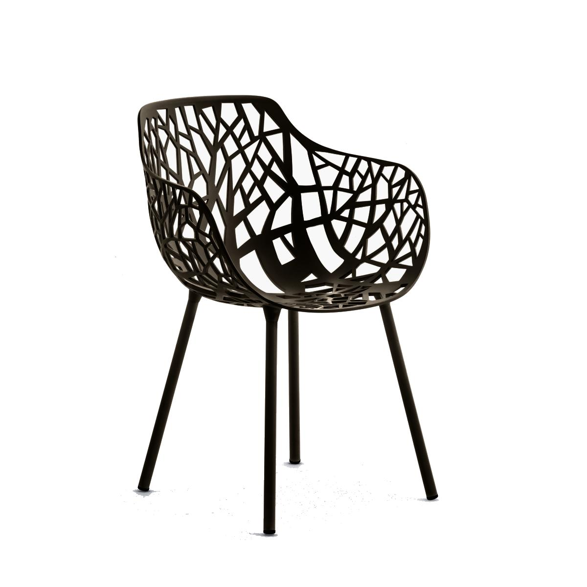 FOREST Sessel Aluminium schwarz