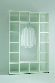 355 Regal als Garderobe: mit Garderobenstange
