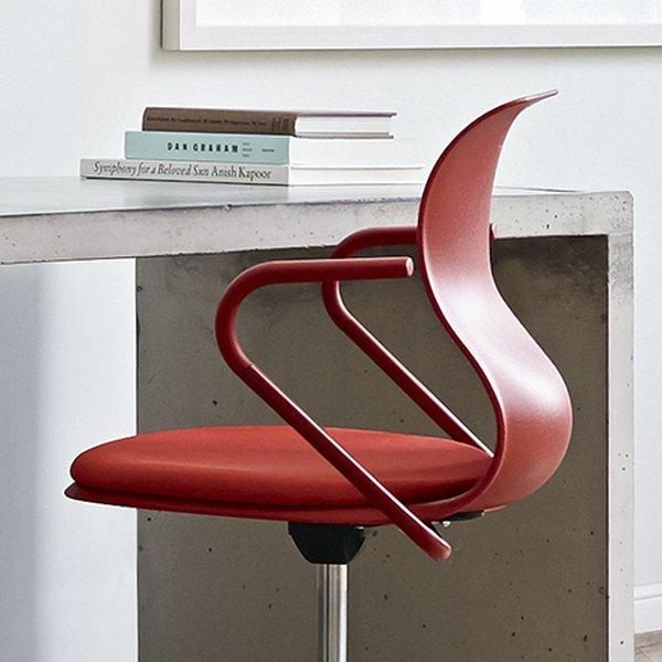 Sitzkissen und Metall-Armlehne für PRO Stuhl, korallrot