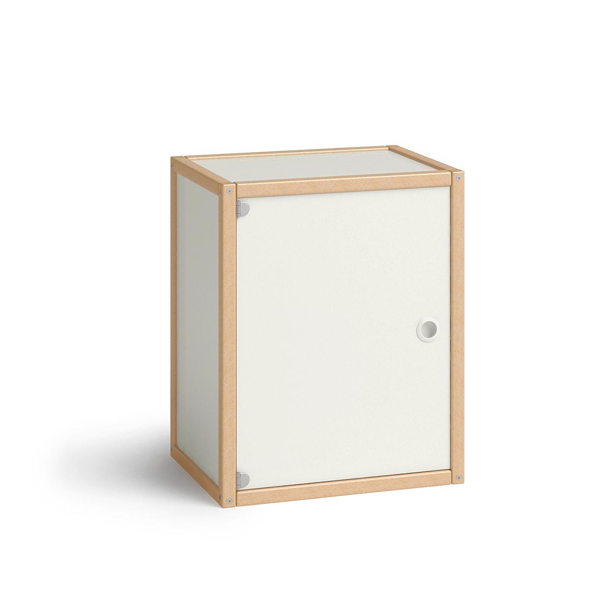PROFILSYSTEM Container mit 1 Tür, 8422.3.05, Buche natur / weiß