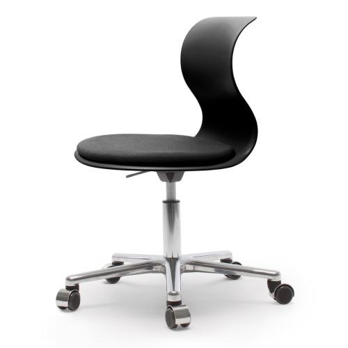 FLÖTOTTO PRO 6 Chair Drehstuhl schwarz mit Kissen