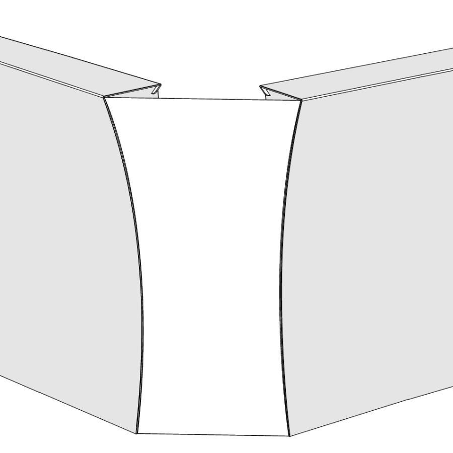 flux ARC Link 90, Eckverbindung für 2 Barelemente, weiß