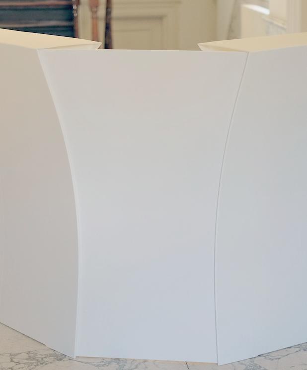 flux ARC Bar 90 Grad Verbindung, weiß, mit LED-Beleuchtung farbig
