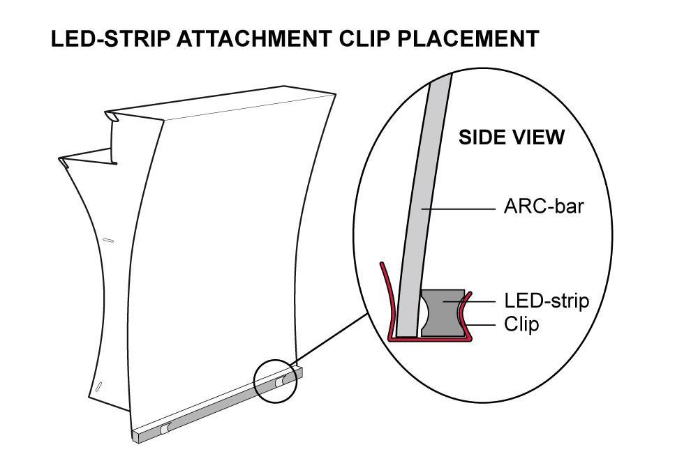 Einbau der LED-Leiste für die FLUX ARC Bar / Theke
