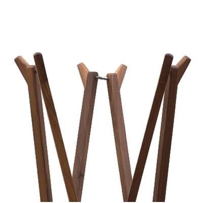 SEI Garderobenständer klappbar, Nussbaum Detail