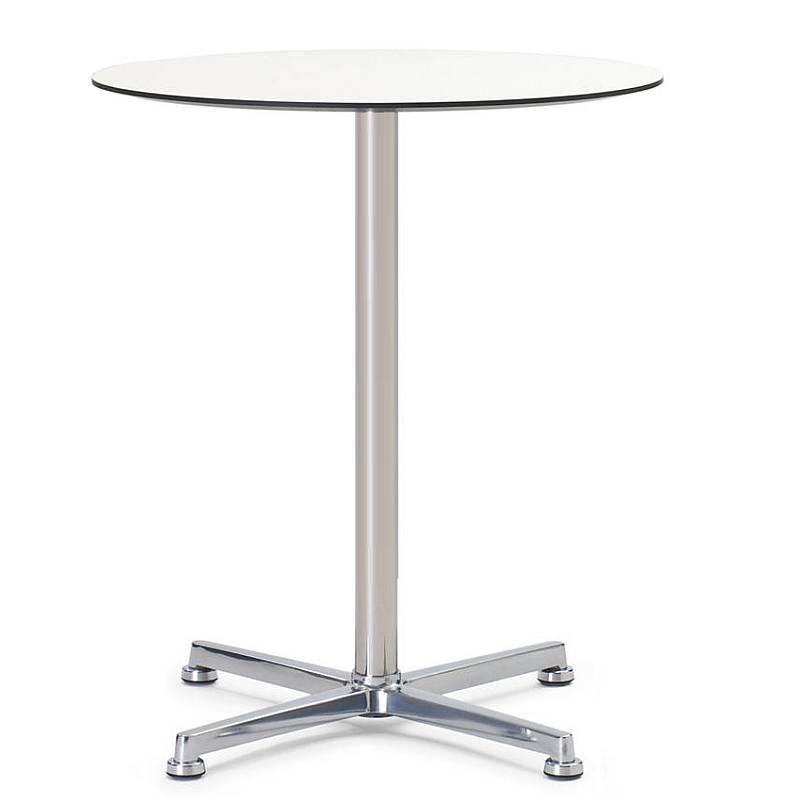 IN & OUT Bistrotisch / Gartentisch, mit runder Tischplatte weiß