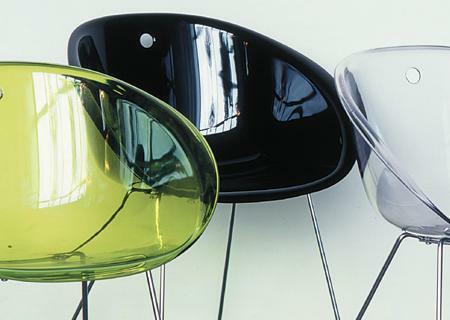 Stuhl GLISS Kufengestell/Acryl