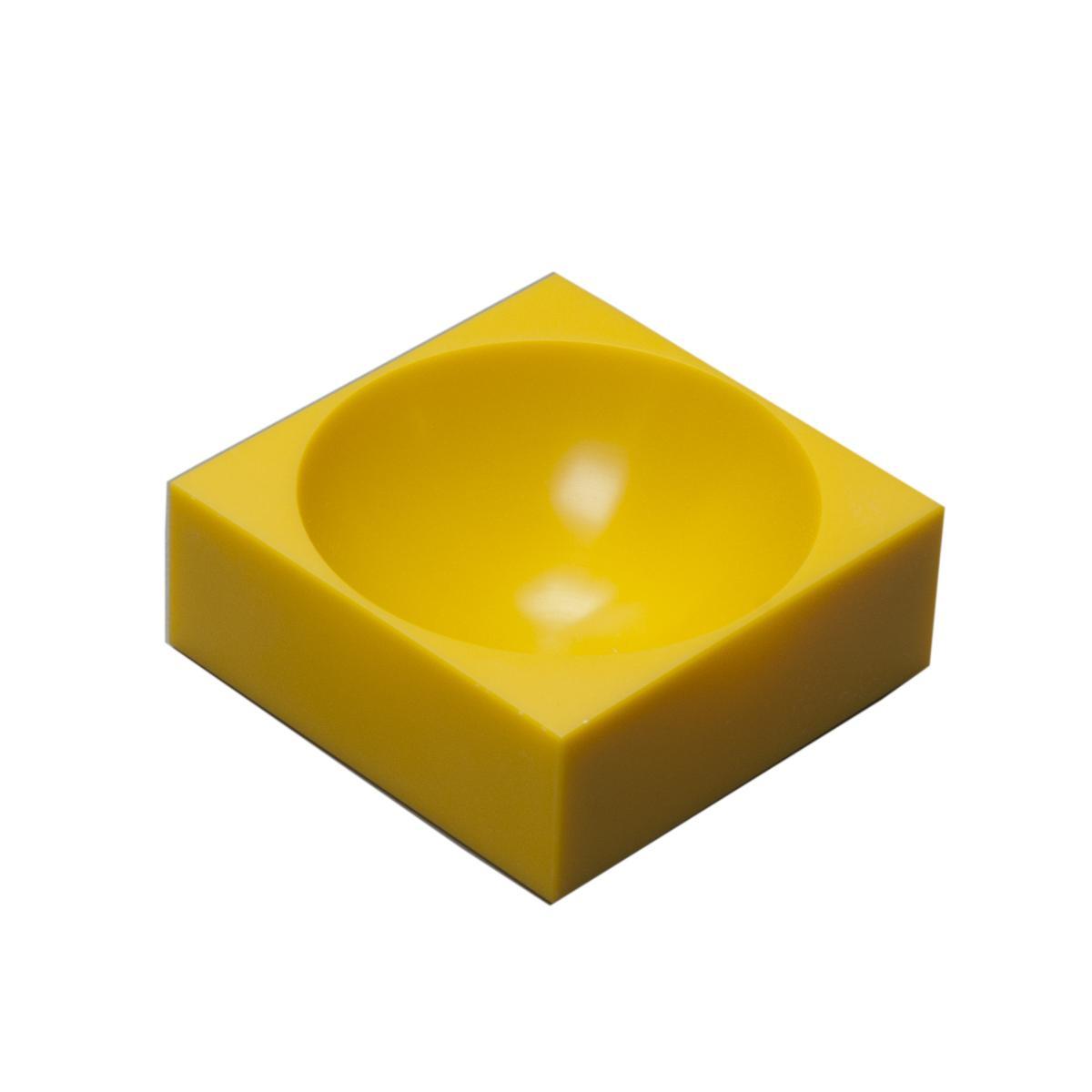 farmer block Magnet-Schale 8 x 8 cm, Isamal gelb