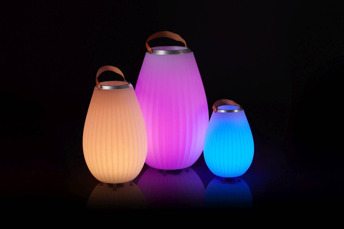 JOOULY Weinkühler / Bluetooth-Lautsprecher mit LED farbiger Beleuchtung nach Wahl