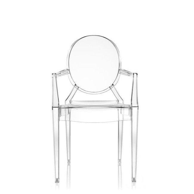 Louis Ghost Stuhl kristallklar von Vorne