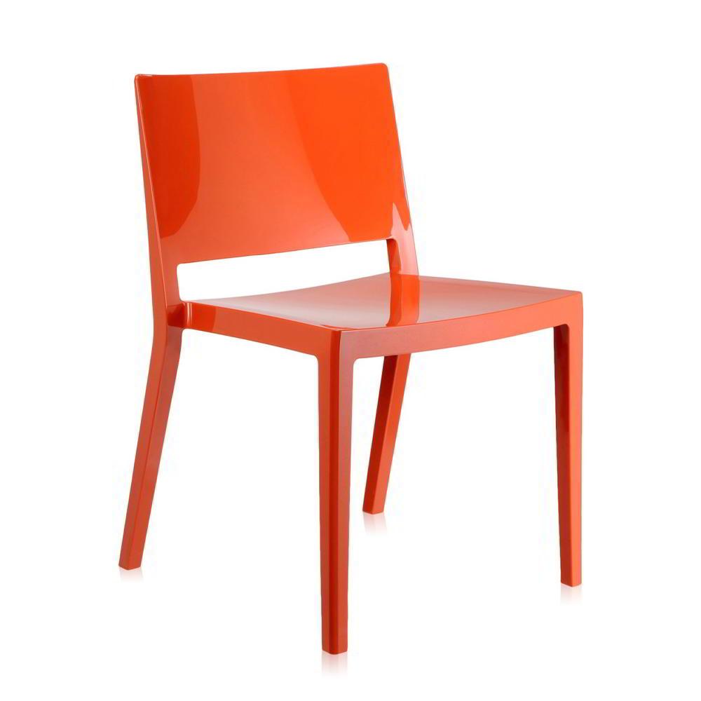 Lizz Stapelstuhl orange poliert