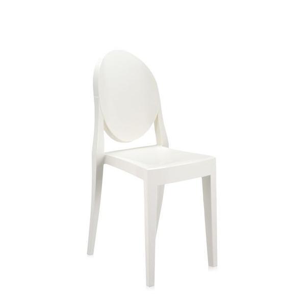 Victoria Ghost Stuhl undurchsichtig weißglänzend (E5)