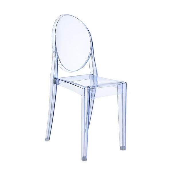 Victoria Ghost Stuhl transparent blau (P2)